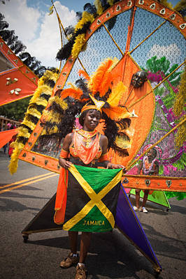 Dc Caribbean Carnival No 13 Art Print by Irene Abdou
