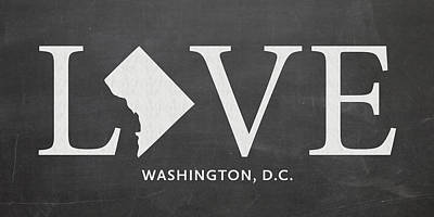 Washington Dc Mixed Media - Dc Love by Nancy Ingersoll