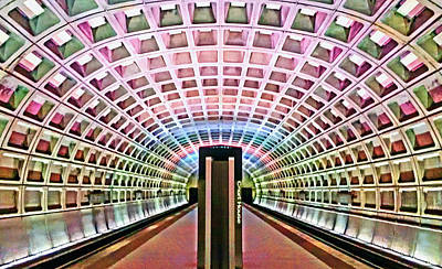 Photograph - Dc Metro Architecture by Suzanne Stout