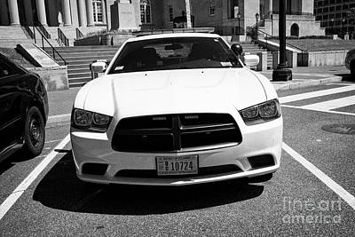 Police Cruiser Photograph - dc metropolitan police dodge charger pursuit cruiser  judiciary square Washington DC USA by Joe Fox