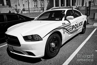 Police Cruiser Photograph - dc metropolitan police patrol cruiser car judiciary square Washington DC USA by Joe Fox