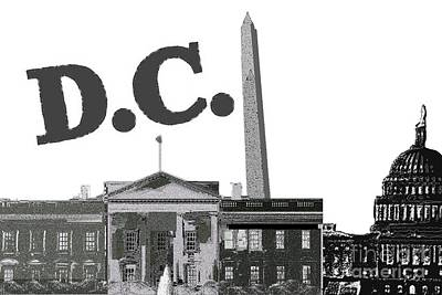 Capitol Building Mixed Media - Dc On Edge by Pharris Art