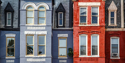 Dc Row Houses Art Print by Phillip Schafer
