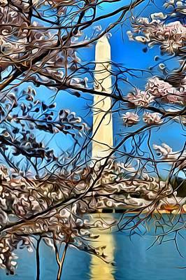 Washington Monument Digital Art - Dc Spring by Joe Paniccia