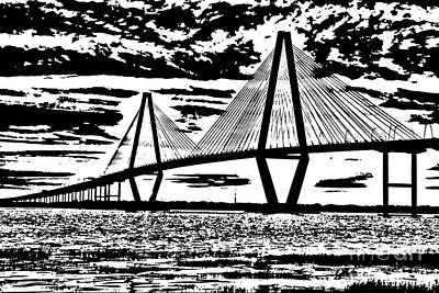 Photograph - Cooper River Bridge Art by Dale Powell