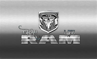 Digital Art - Dodge Ram Logo by Carlos Diaz