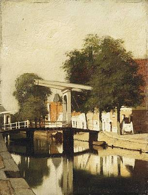 Mets Painting - De Burgwal Met De Hagebrug Te Haarlem by MotionAge Designs