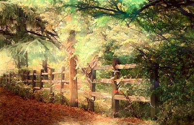Mixed Media - De Fence Fence by Joseph Hollingsworth