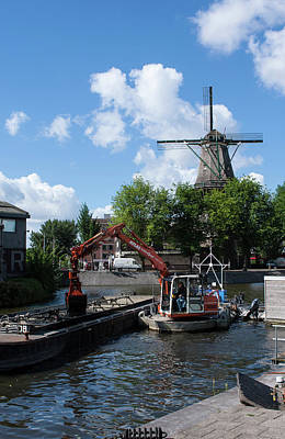 Photograph - De Gooyer Windmill, Amsterdam by Aidan Moran