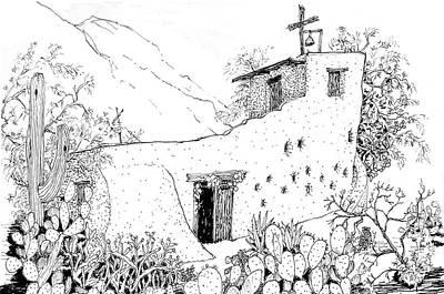 De Grazia Chapel, Tucson, Arizona Print by James Lewis Hamilton