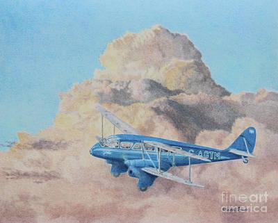 Passenger Plane Painting - de Havilland Dragon Rapide by Elaine Jones