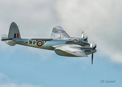 Photograph - De Havilland Mosquito by CR  Courson