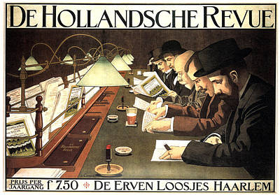 Mixed Media - De Hollandsche Revue - Dutch Journal - Vintage Advertising Poster by Studio Grafiikka