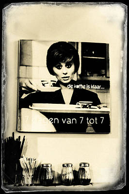 Photograph - De Koffie Is Klaar. Old Cards From Amsterdam by Jenny Rainbow