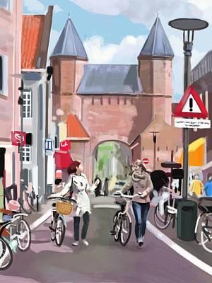 Medieval Entrance Digital Art - De Koppelpoort, Amersfoort by Plum Ovelgonne