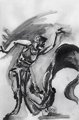 Drawing - de Lavallade by Howard Barry