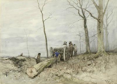Anton Painting - De Mallejan by Anton Mauve