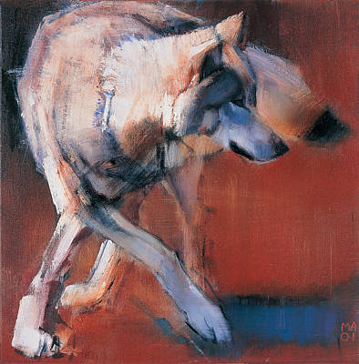 Wolf Painting - De Siberie by Mark Adlington