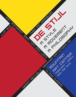 Digital Art - De Stijl by Chuck Mountain
