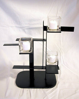 Sculpture - De Stijl Candle Holder Model 3 by John Gibbs