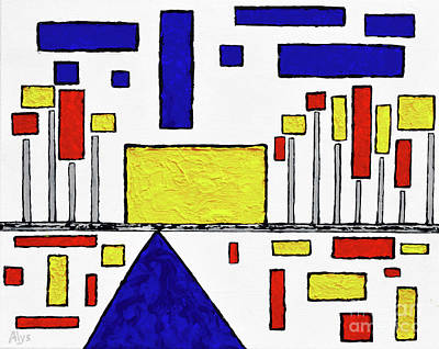 De Stijl My Beating Heart Original by Alys Caviness-Gober