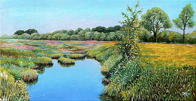 Painting - De Vilt - Holland by Arie Van der Wijst