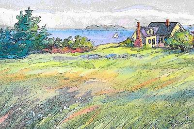 Maine Meadow Painting - Deacon's Point by Tamara Keiper