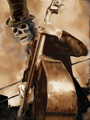 Digital Art - Dead Bass Player by Fabrizio Uffreduzzi
