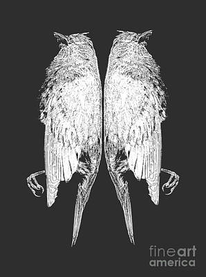 Album Photograph - Dead Birds Tee White by Edward Fielding