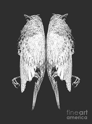 Animals Photos - Dead Birds Tee White by Edward Fielding