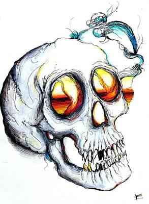 Daydreams Art Drawing - Dead Daydreamer by Erica Seckinger