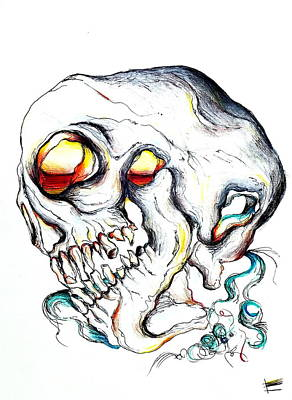 Daydreams Art Drawing - Dead Daydreaming by Erica Seckinger