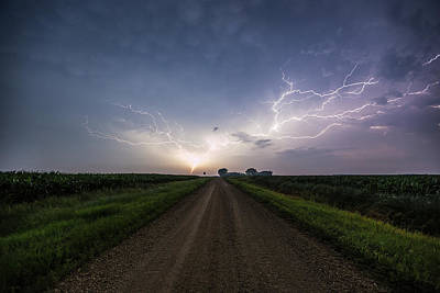 Lightning Photograph - Dead End by Aaron J Groen