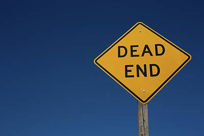 Photograph - Dead End Sign On The Road,street In The Country,walk Way,car,dri by Jingjits Photography