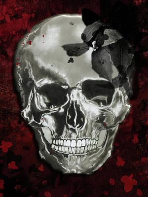 Mixed Media - Dead Fancy Skull by Lisa Stanley