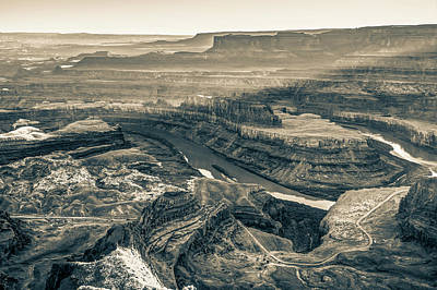 Photograph - Dead Horse Point At Sunset In Sepia by Gregory Ballos