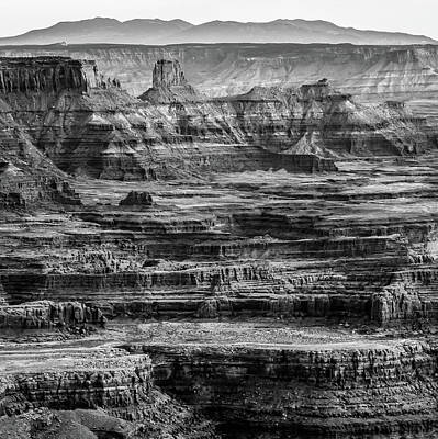 Photograph - Dead Horse Point Black And White - Utah Mountain Landscape by Gregory Ballos