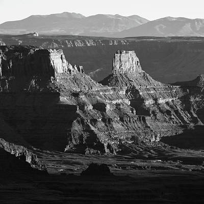 Landscapes Royalty-Free and Rights-Managed Images - Dead Horse Point Monochrome - Utah Mountain Landscape by Gregory Ballos