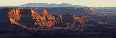 Photograph - Dead Horse Point Mountain And Canyon Landscape Panorama by Gregory Ballos