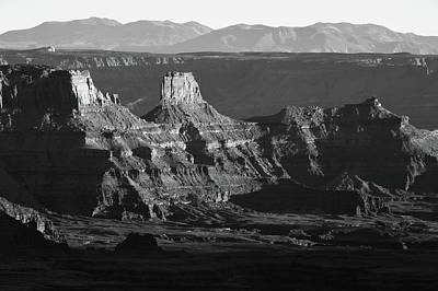 Photograph - Dead Horse Point Park In Black And White - Moab Utah by Gregory Ballos
