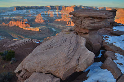 Photograph - Dead Horse Point Sunrise by Ray Mathis