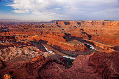 Photograph - Dead Horse Point View Of The Colorado River by Lon Dittrick