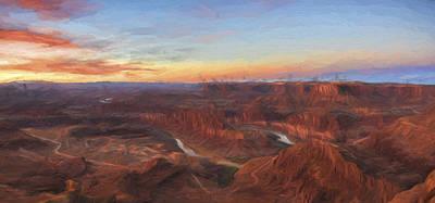 Mountains Digital Art - Dead Horse Sunrise II by Jon Glaser