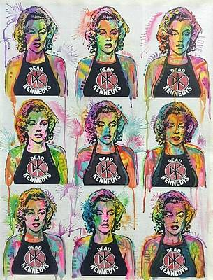 Mixed Media - Dead Kennedy's Marilyn 9x by Dean Russo