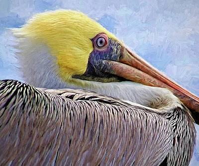 Photograph - Dead Lake Pelican by Alice Gipson