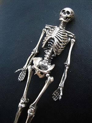 Sterling Silver Sculpture - Dead Man by Joshua  Murray