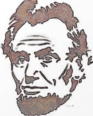 Abraham Lincoln Drawings Digital Art - Dead Man Past President  by Catherine Lott