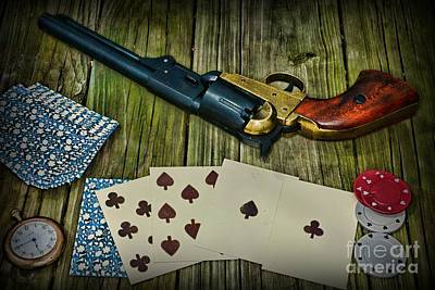 Wild Bill Hickok Photograph - Dead Mans Gun Aces High by Paul Ward