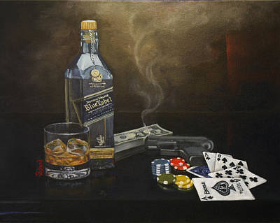 Scotch Painting - Dead Man's Hand by Tracy Dupuis Roland