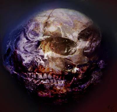 Digital Art - Dead Planet by Vic Weiford